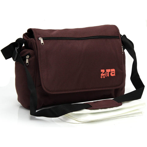 Baby Travel Zeta Changing Bag Plain HOT CHOCOLATE Complete With Changing Matt