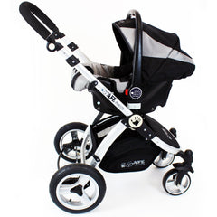 iSafe 3 in 1 - Black (With Car Seat) Travel System Pram Options - Baby Travel UK  - 16
