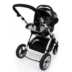 iSafe 3 in 1 - Black (With Car Seat) Travel System Pram Options - Baby Travel UK  - 17