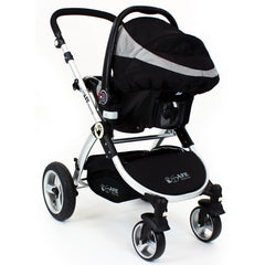iSafe 3 in 1 - Black (With Car Seat) Travel System Pram Options - Baby Travel UK  - 18
