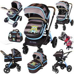 i-Safe System - i DiD iT Trio Travel System Pram & Luxury Stroller 3 in 1 Complete With Car Seat + Changing Bag + Rain Covers - Baby Travel UK  - 1