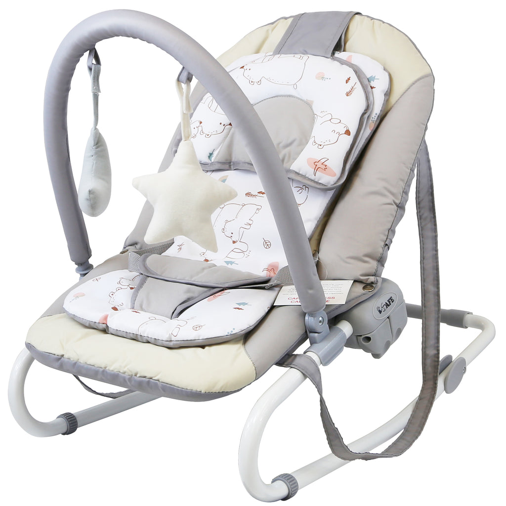 iSafe Baby Bouncer Rocker Feeding Relaxing Chair From Birth (Baby Bear)