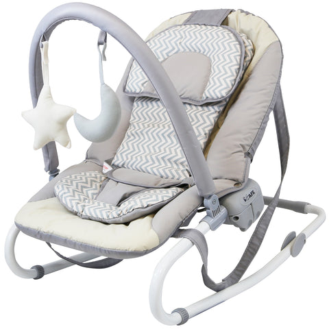 iSafe Baby Bouncer Rocker Feeding Relaxing Chair From Birth (Chevron)