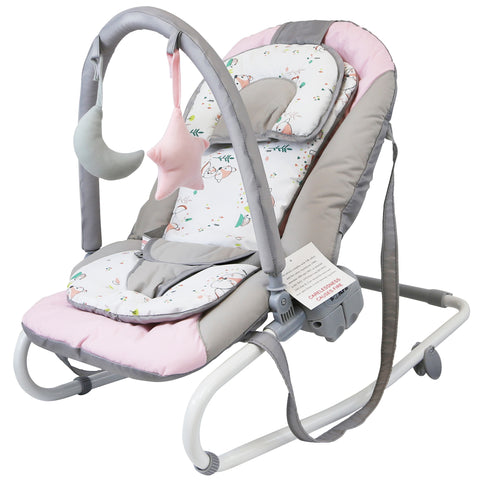 iSafe Baby Bouncer Rocker Feeding Relaxing Chair From Birth (Foxy)