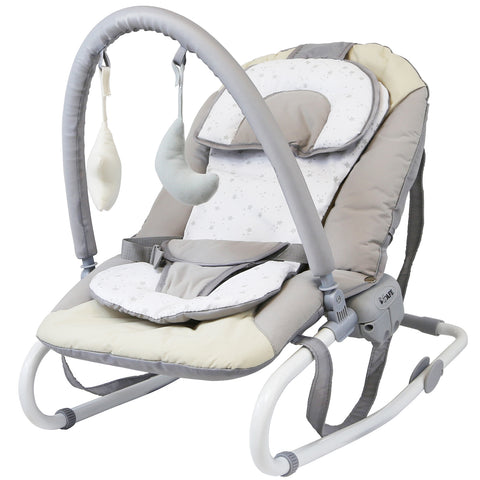 iSafe Baby Bouncer Rocker Feeding Relaxing Chair From Birth (Shiny Stars)