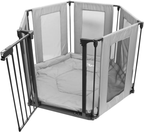 Baby Playpen 3in1 By iSafe Fire Guard Room Divider Safety Gate (Fabric)