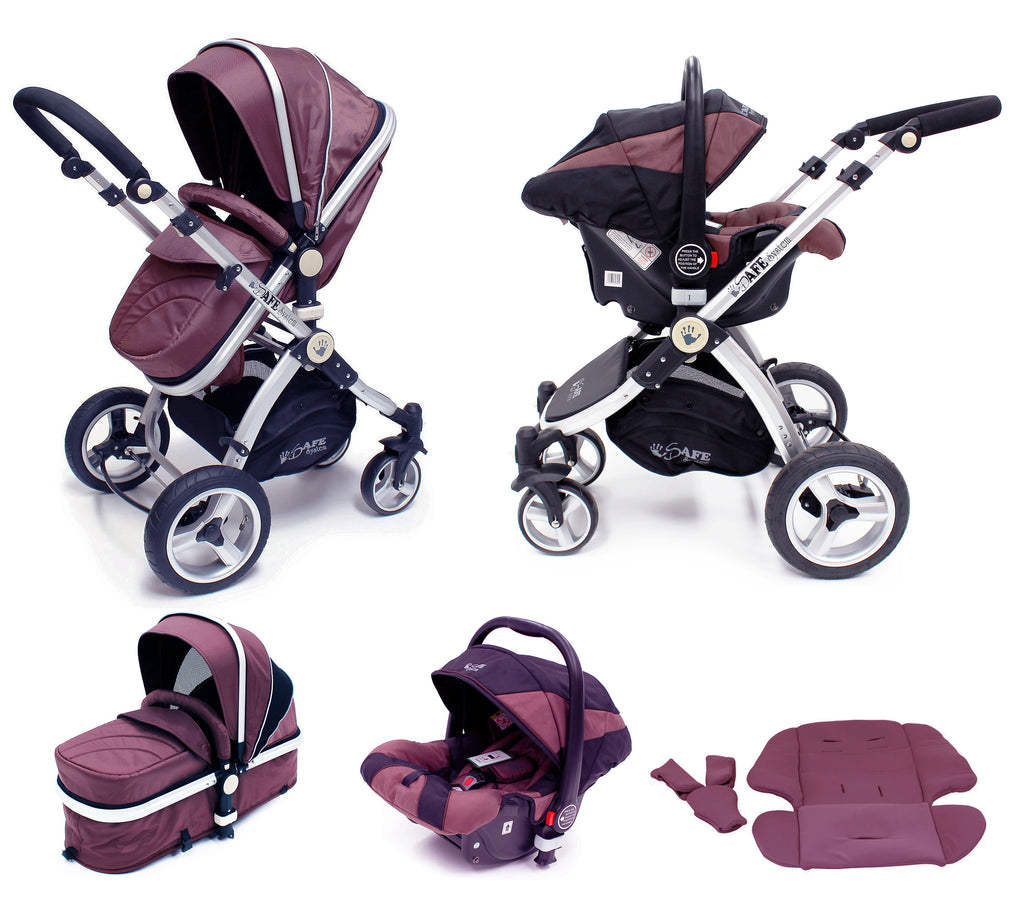 isafe pram system 3 in 1 travel system