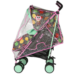 SALE!!! iSafe Stroller - Leaf And Owl Complete With Footmuff Head Hugger, Raincover