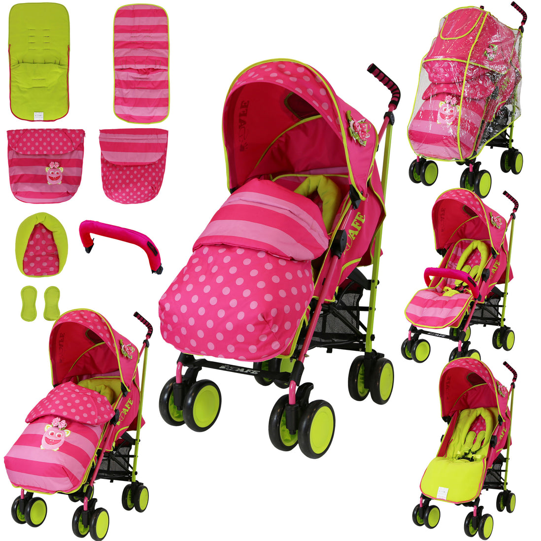 SPECIAL OFFER iSafe Stroller LiL Friend Complete Footmuff Head Hugger Raincover