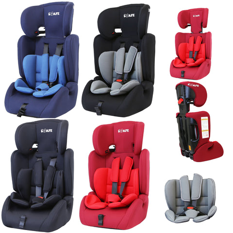 iSafe Value Comfort Baby Car Seat Group 1 2 3 Junior Trio Booster Seat