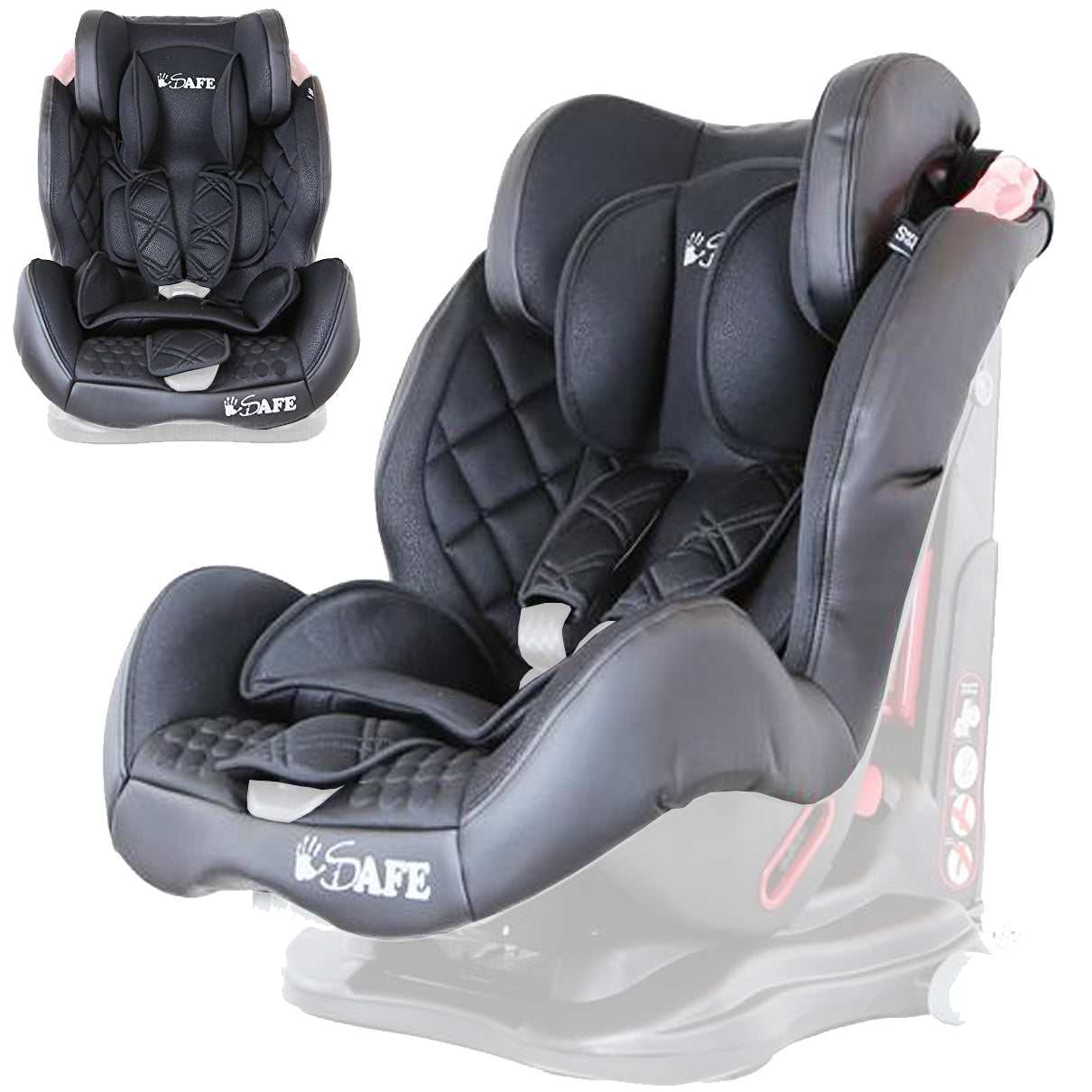Replacement Car Seat Fabric Cover Compatible With Bebylux Alexa Lusso Group 1 2 3