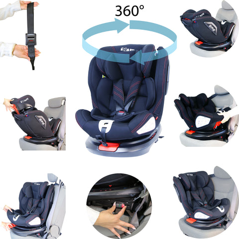 All Stages 360° Rotating Baby Car Seat Carseat Group 0+ 1 2 3 (CS 008) Every Stage