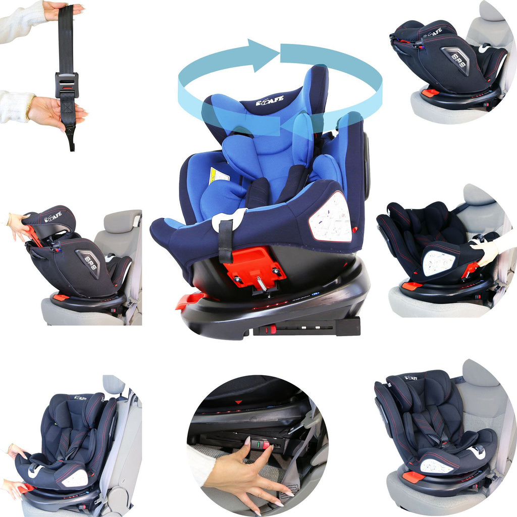 All Stage Every Stage Rotating Carseat Group 0+ 1 2 3 Blue