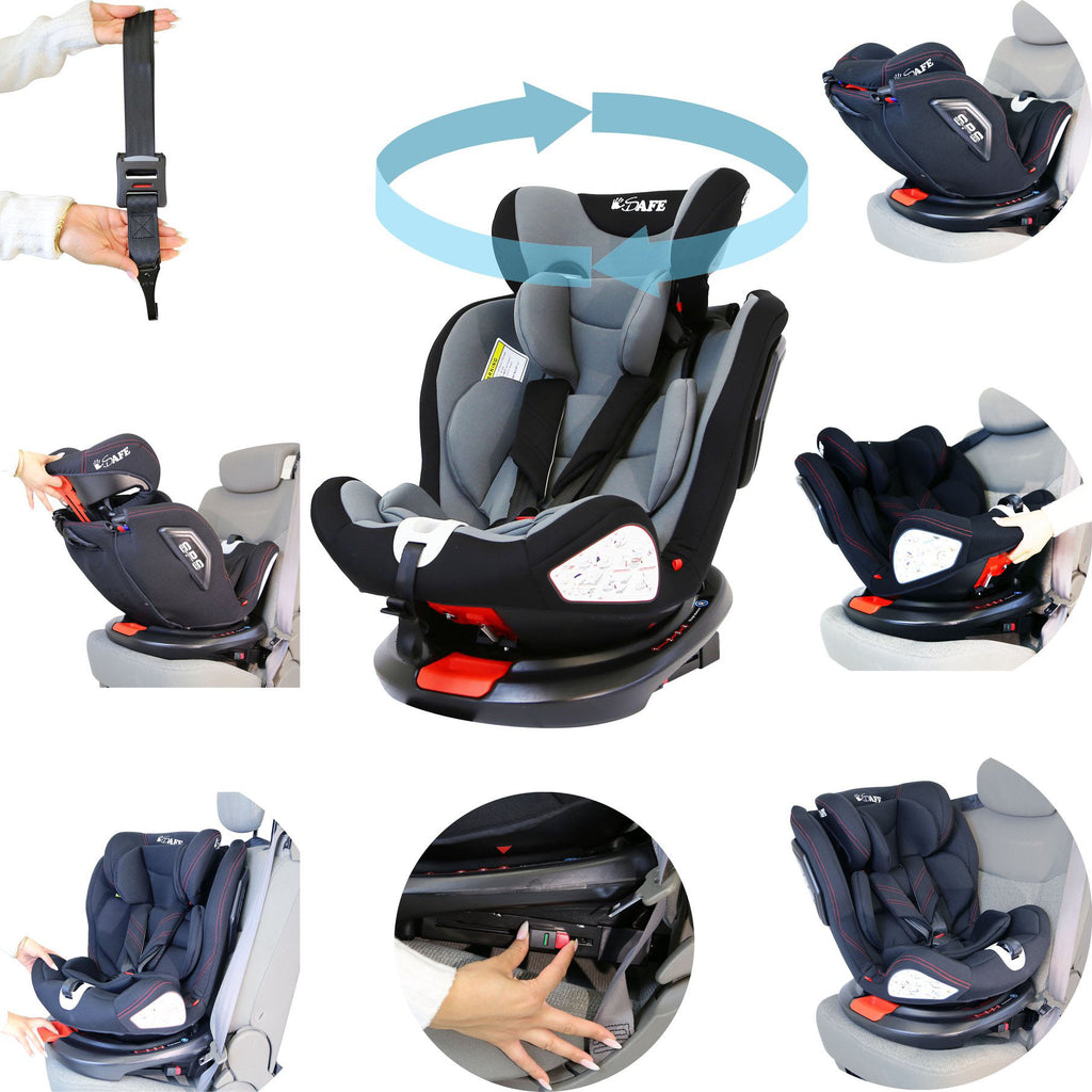 All Stage Every Stage Rotating Carseat Group 0+ 1 2 3 Grey