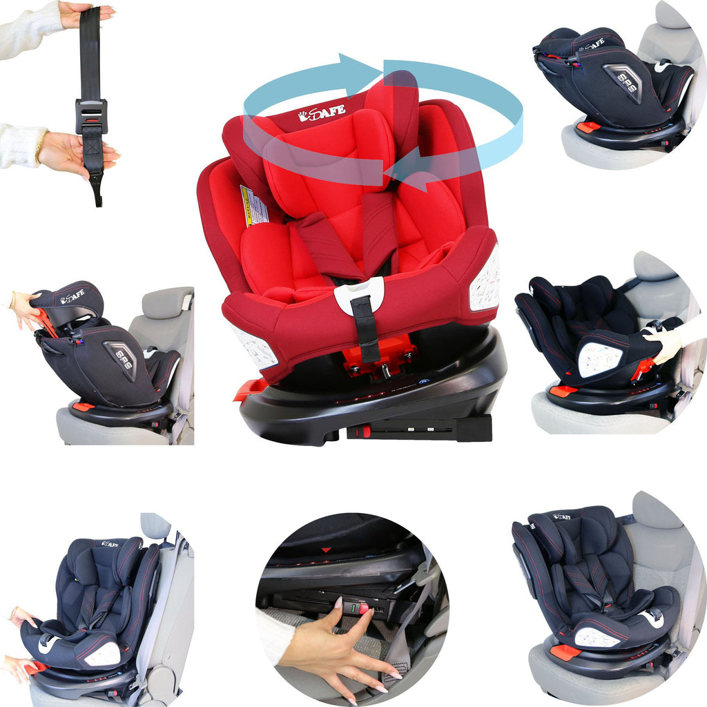 All Stage Every Stage Rotating Carseat Group 0+ 1 2 3 Red