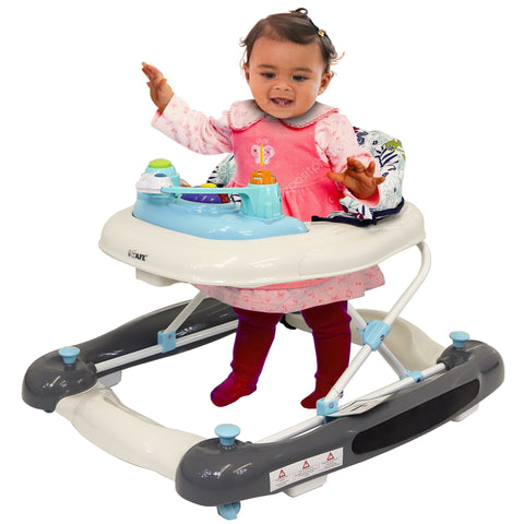 iSafe 2 in 1 Walk & Rock Baby Walker Rocker And Entertainer