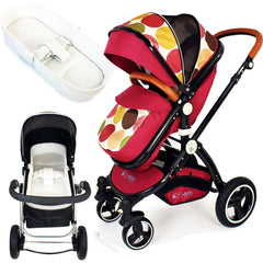 iSafe Baby Pram System 3 in 1 Complete With Bedding - C&M Designs Complete Package - Baby Travel UK  - 3