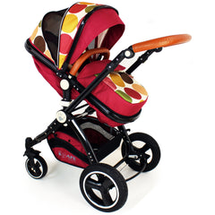iSafe Baby Pram System 3 in 1 Complete With Bedding - C&M Designs Complete Package - Baby Travel UK  - 8