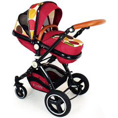iSafe Baby Pram System 3 in 1 Complete With Bedding - C&M Designs Complete Package - Baby Travel UK  - 9