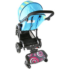 iSafe SegBoard Buggy Board Sit Or Step Pram Board - Swirl Complete With Saddle Seat - Baby Travel UK  - 11