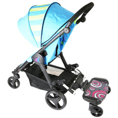 iSafe SegBoard Buggy Board Sit Or Step Pram Board - Swirl Complete With Saddle Seat - Baby Travel UK  - 10