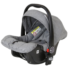 Marvel 3in1 Pram - Dove Grey Pram Travel System (+ Luxury Carrycot + Car Seat+ x2 Raincovers + x2 Footmuffs) - Baby Travel UK  - 12