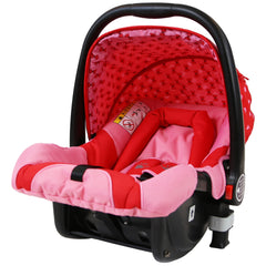i-Safe System - Bow Dots Trio Travel System Pram & Luxury Stroller 3 in 1 Complete With Car Seat And ISOFIX Base - Baby Travel UK  - 17