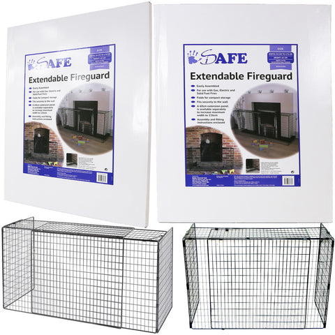 iSafe Extendable Fireguard 94 Cm X 174 Cm Width Nurseryware Fire Place Protection