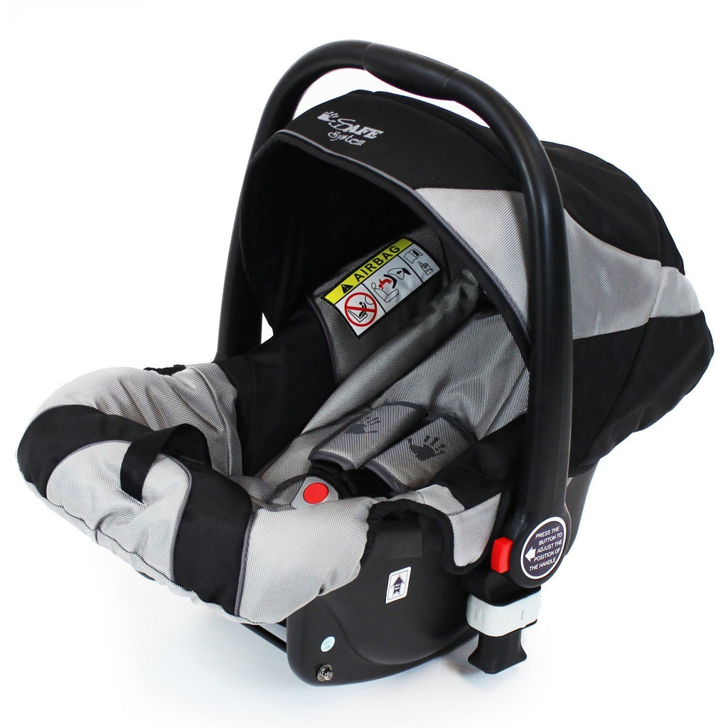 iSafe Infant Carseat Group 0+ - Black - Baby Travel UK  - 1