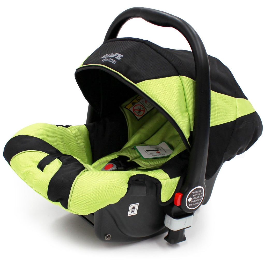 iSafe Infant Carseat Group 0+ - Lime For iSafe Pram System - Baby Travel UK  - 1