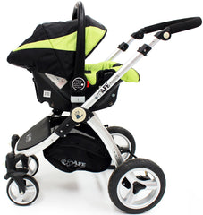 iSafe Infant Carseat Group 0+ - Lime For iSafe Pram System - Baby Travel UK  - 2