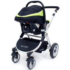 iSafe Infant Carseat Group 0+ - Lime For iSafe Pram System - Baby Travel UK  - 3