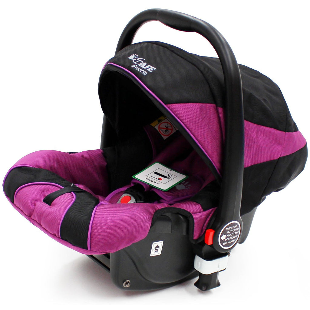 iSafe Infant Carseat Group 0+ - Plum For iSafe Pram System - Baby Travel UK  - 1