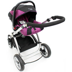 iSafe Infant Carseat Group 0+ - Plum For iSafe Pram System - Baby Travel UK  - 2