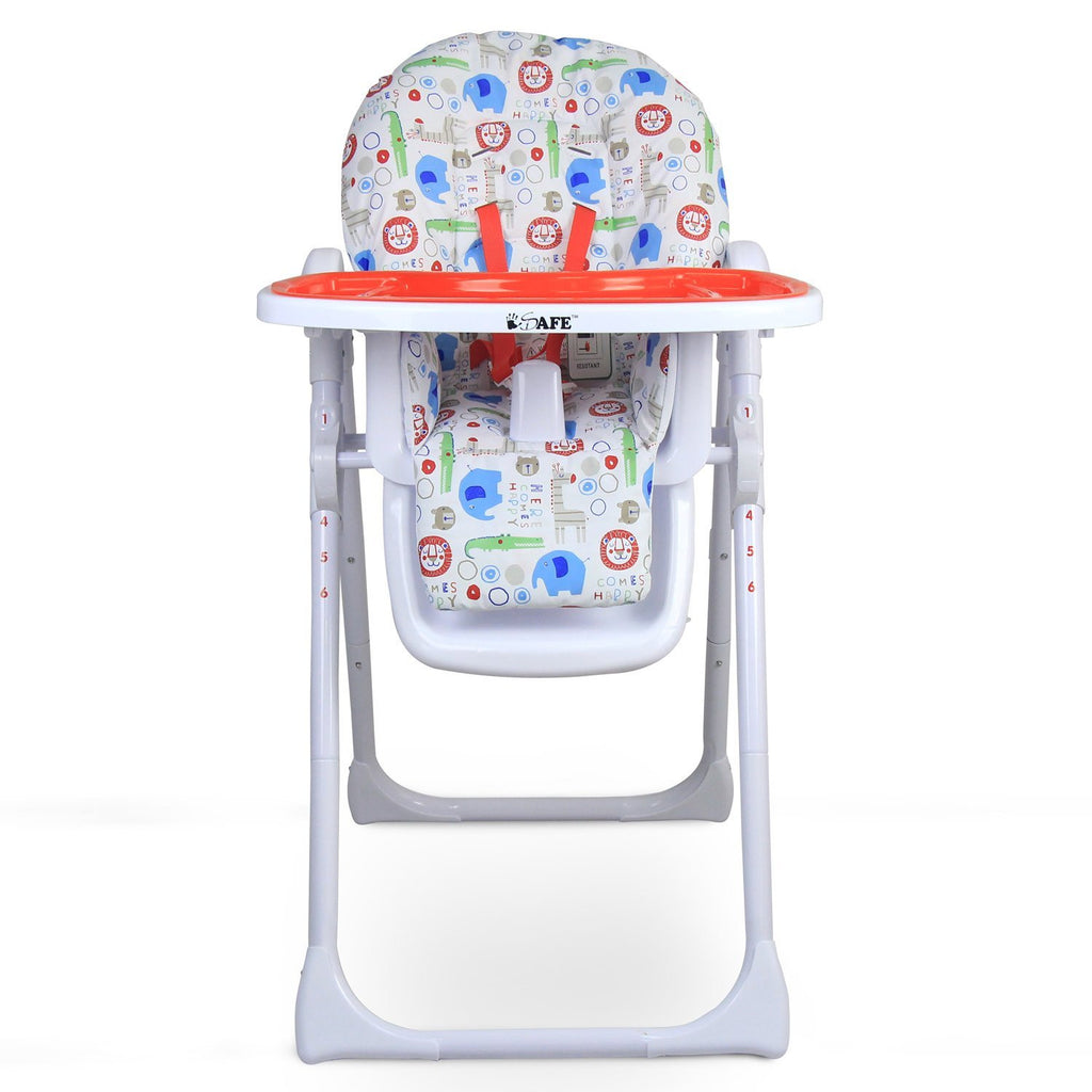 iSafe MAMA Highchair - Serengetti Recline With Double Tray & Storage Basket - Baby Travel UK  - 1
