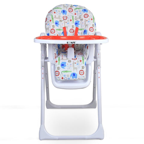 iSafe MAMA Highchair - Serengeti Recline With Double Tray & Storage Basket