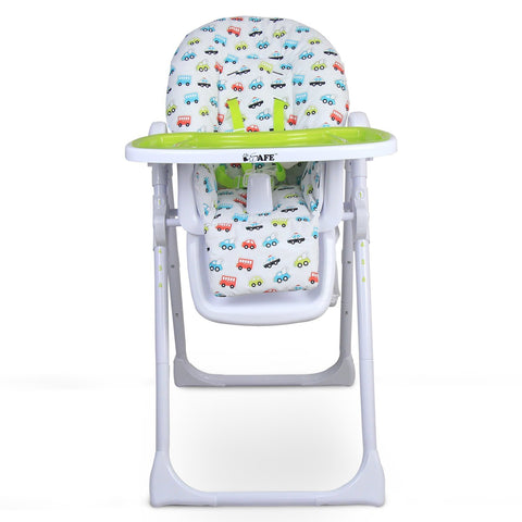 iSafe MAMA Highchair - Vrooom Recline With Double Tray & Storage Basket