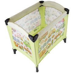 iSafe Mini Travel Cot With Bassinet and Canopy - City Break 81 x 56 x 84 cm Complete With Mattress - Baby Travel UK  - 3