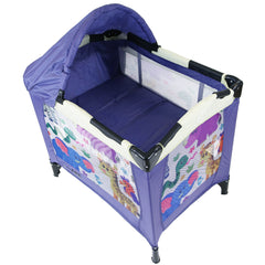 iSafe Mini Travel Cot With Bassinet And Canopy - Safari 81 x 56 x 84 cm - Baby Travel UK  - 3