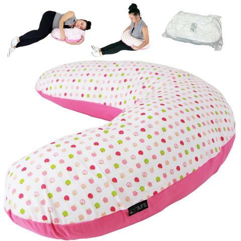iSafe Pregnancy Maternity And Feeding Pillow Apple Land + Vacuum Storage Bag + Pillow Case