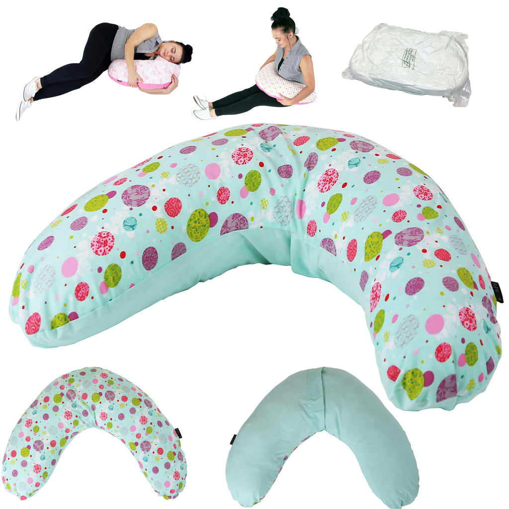 iSafe Pregnancy Maternity And Feeding Pillow Aquarius + Vacuum Storage Bag + Pillow Case - Baby Travel UK  - 1