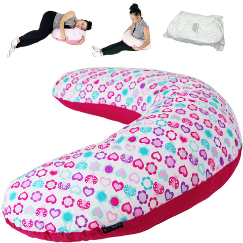 iSafe Pregnancy Maternity And Feeding Pillow Love Bug + Vacuum Storage Bag + Pillow Case