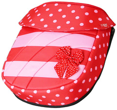 iSafe Baby Pram System 2in1 - Bow Dots Complete With Bedding, Orgainser & Rain Cover - Baby Travel UK  - 11