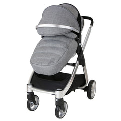 Marvel 3in1 Pram - Dove Grey Pram Travel System (ISOFIX Base + Luxury Carrycot + Car Seat+ x2 Raincovers + x2 Footmuffs) - Baby Travel UK  - 5
