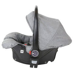 Marvel 3in1 Pram - Dove Grey Pram Travel System (ISOFIX Base + Luxury Carrycot + Car Seat+ x2 Raincovers + x2 Footmuffs) - Baby Travel UK  - 13