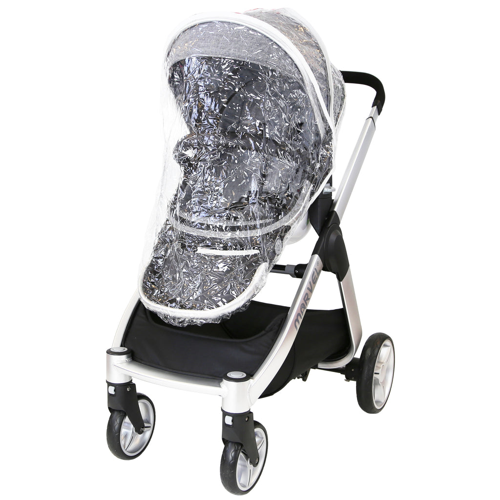 Marvel 3in1 Pram - Dove Grey Pram Travel System (+ Luxury Carrycot + Car Seat) - Baby Travel UK  - 18