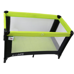 iSafe Rest & Play Luxury Travel Cot/Playpen - Lime (Black/Lime) 120 cm x 60 cm Complete With Mattress - Baby Travel UK  - 4