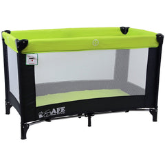 iSafe Rest & Play Luxury Travel Cot/Playpen - Lime (Black/Lime) 120 cm x 60 cm Complete With Mattress - Baby Travel UK  - 6