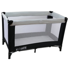 iSafe Rest & Play Luxury Travel Cot/Playpen - MoonStone (Black/Grey) 120 cm x 60 cm Complete With Mattress - Baby Travel UK  - 2
