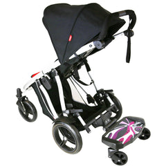 iSafe SegBoard Buggy Board Sit Or Step Pram Board 'Splash' To Fit Hauck Shopper Neo II Pushchair (Caviar/Silver)